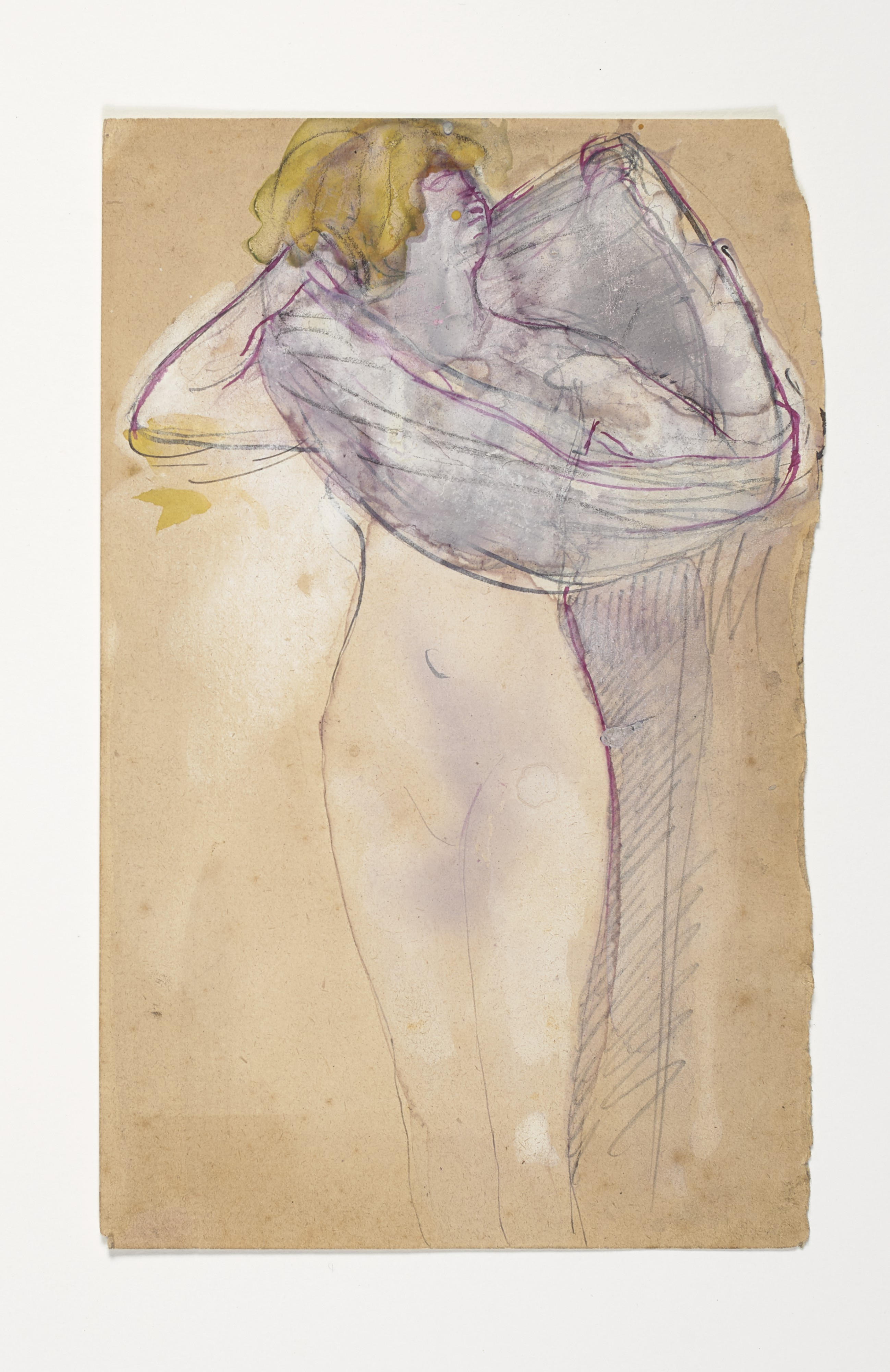 Lot 24: Auguste Rodin (1840-1917), Salomé. Gouache, watercolor, brown and pink ink and pencil on laid paper. Executed circa 1895-97. Estimate : $50,000 - $80,000. ©Christie's Images Ltd, 2017.