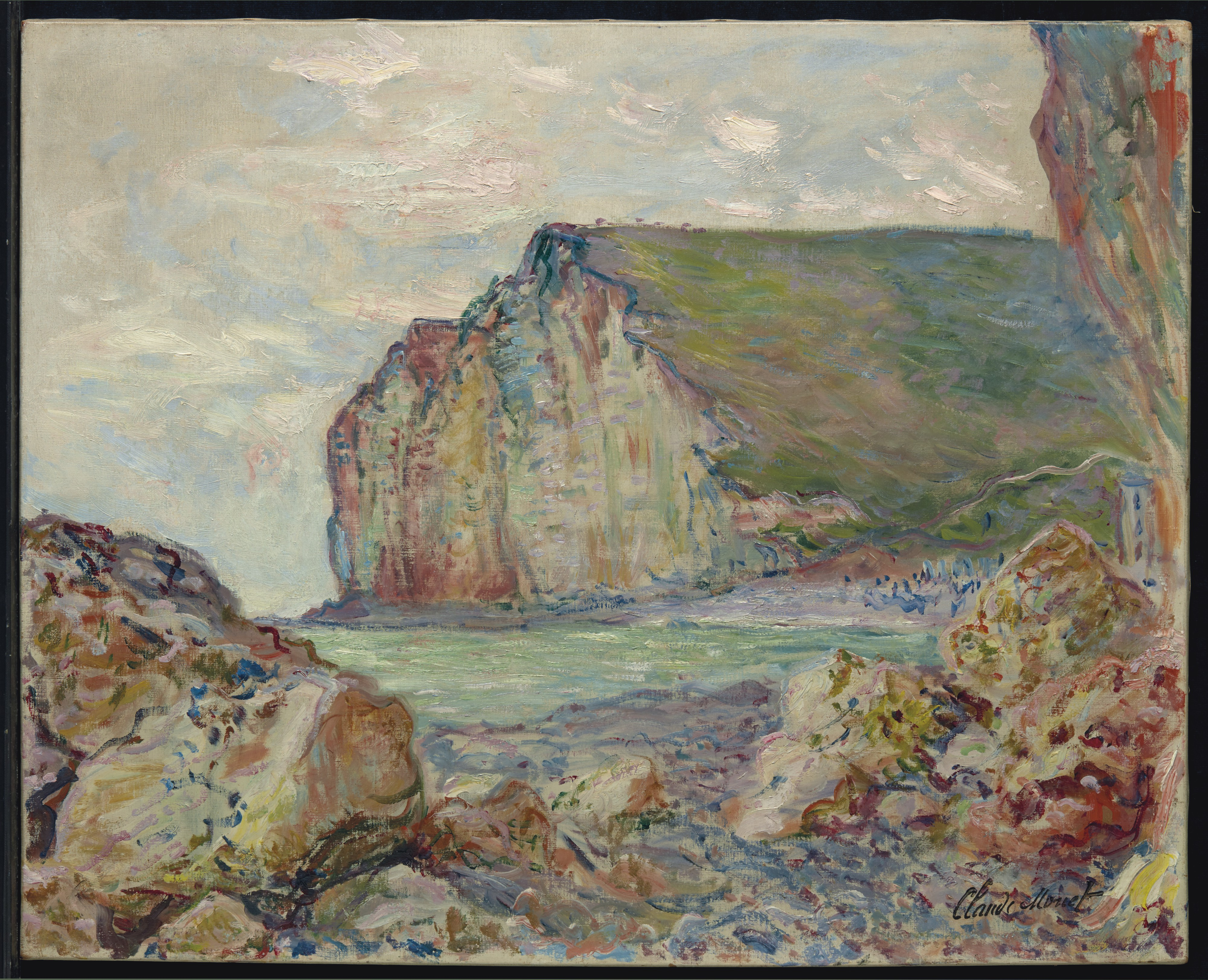 Lot 22: Claude Monet (1840-1926), Falaises des Petites-Dalles. Stamped with signature, painted near Les Petites-Dalles in 1884. Estimate: $2,000,000 - $3,000,000. ©Christie's Images Ltd, 2017.
