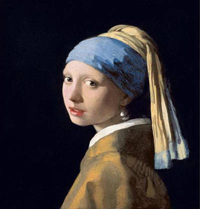 Girl with peral erring Vermeer