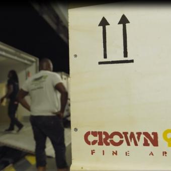 Crown Fine Art were helped with shipping and installation